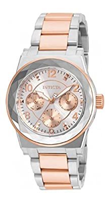 Invicta Women's 'Angel' Quartz Stainless Steel Casual Watch, Color:Two Tone (Model: 22109)