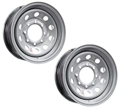 "2-Pack Trailer Rims 16X6 Steel Silver Modular 8 Lug 6.5"" Center 4.90""CB 3750#. Rim Size: 16"" X 6"". Bolt Configuration: 8 Lug 6.5"" Center. Offset: 0"". Center Bore: 4.90"". Rim Construction: Steel. Rim Style: Modular. Rim Color: Silver. Wheel Hu..."