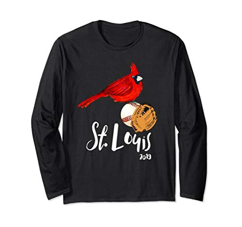 Saint Louis Red Cardinal Long Sleeve Shirt 2019 Bird Player (St Louis Cardinals Best Players 2019)