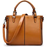 Woman Lady Single shoulder bag concise Handbag brown xdvb87