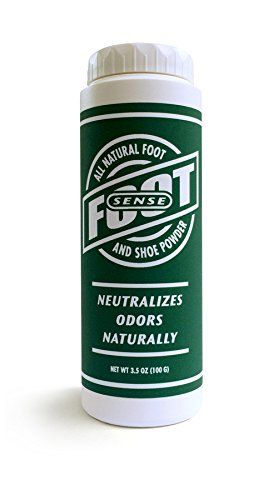 [FOOT SENSE All Natural Smelly Foot & Shoe Powder - 3.5 Oz/100 Grams - Foot Odor Eliminator lasts up to 6 months. Safely kills bacteria. Natural formula for smelly shoes and stinky feet. Safe & natural. Protects disinfects and deodorizes.] (Zinc Oxide Deodorant)