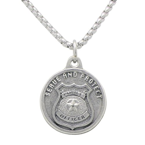 Rosemarie Collections St Michael Pendant Necklace