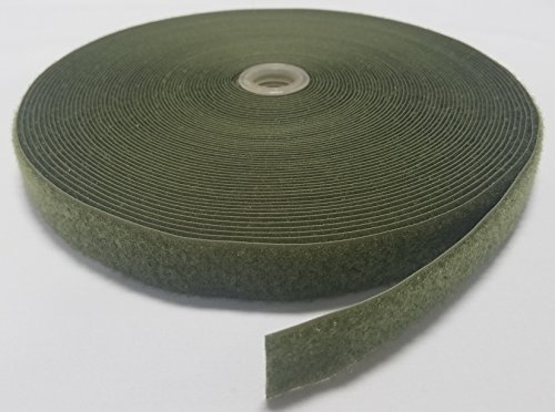 1'' OLIVE (OD) GREEN SEW-ON HOOK and LOOP FASTENER - LOOP SIDE ONLY - 25 YARDS by Ameratex