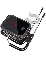 Inkbird IBT-2X Digitale Vleesthermometer BBQ,Bluetooth Barbecue Thermometer met 2 Probes en Kook Timer Optie voor Voedsel Koken Grillen Vlees Roken Oven