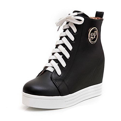 BalaMasa Womens Wedges ABL10457 Resistant Urethane Boots Fashion Black Slip gRwZgvfq
