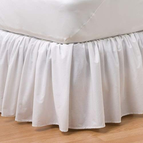 Cotton Ruffled White Bed Skirt Any Size Any Drop Any Size - detachable option