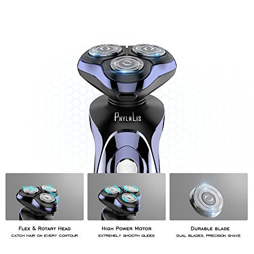 Electric Men Beard Shaver Dry & Wet Trimmer Rotary Razor Waterproof USB Chargeable Cordless 12 in 1 Beard & Hair Grooming Kit Ft. Digital Panel PhylnLis 8600