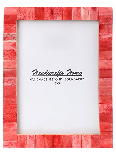 New Real Handmade Black White Bone Photo Picture Vintage Imported Chic Frame Made to Display 5x7 Pictures, Red (Frames Photos For Red)