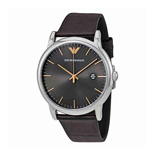 Emporio Armani Men's AR1996 Dress Brown Leather Quartz ()