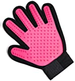 RICISUNG ペット ブラシ 手袋 グローブ 犬と猫に使える お手入れ 抜け毛 ペット用ブラシ ピンク 右手A