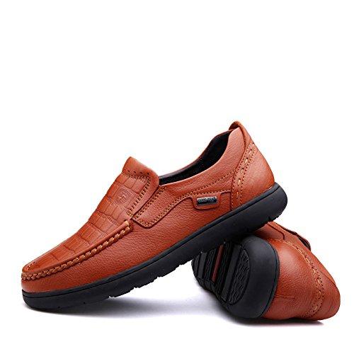 Semelle Souple Décontractée Pour Homme Prossebull Chaussure En Cuir Véritable (eur 41, Orange) Orange
