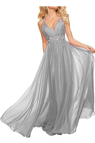 mia Rosa Partykleider Linie Abendkleider Silber Braut Promkleider La Rock A Langes Ballkleider Chiffon Jugendweihe Kleider pqSHdw