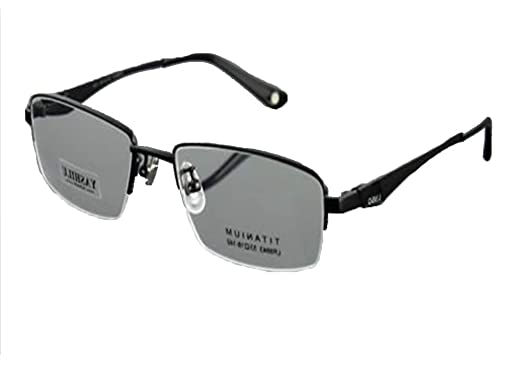 cc955f7543 Image Unavailable. Image not available for. Color  Black New Designer Men s  100% Pure Titanium Half Rimless Glasses Frame Eyewear RX