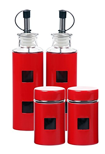 red oil and vinegar dispenser - 3