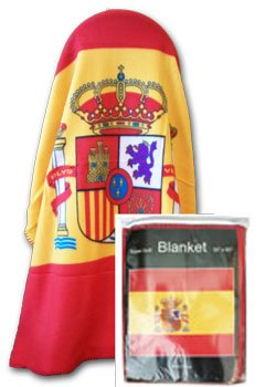 Spain - 50'' x 60'' Polar Fleece Blanket by Flagline
