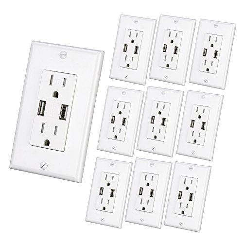 usb outlet  3 1a usb high speed wall charger  electrical