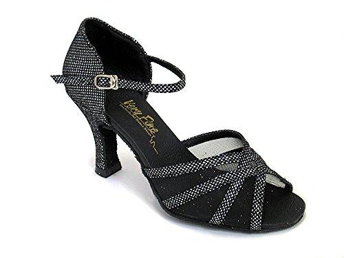 Scarpe Da Ballo Da Donna Scarpe Da Ballo Tango Per Matrimonio 6027eb Confortevole-molto Fine 2.5 [fascio Di 5] Scintillante Nero E Rete Nera