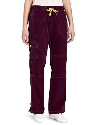 WonderWink Women's Scrubs Four Way Stretch Sporty Cargo Pant, Wine, X-Large - Color Shoes Pants