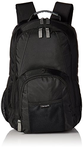 Targus Groove Professional Business Laptop Backpack with Padded Compartment for 17-Inch Laptop, Black (CVR617)]()