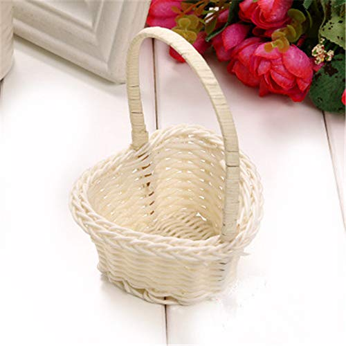 Mini Flower Pot Weaving Fruit Rattan Storage Box Picnic Basket For Kitchen Party Office Hotel Supplies Type 3