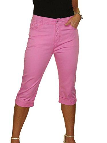 con Capri Jeans la Rosa Donna ICE Stirata Ritagliata 17wqdzxxI