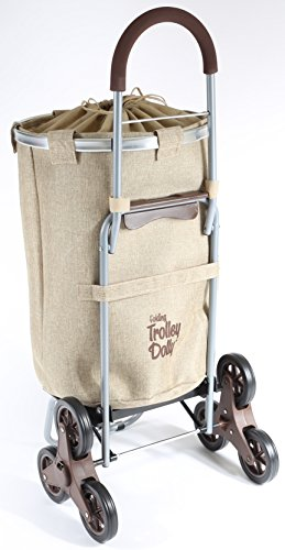 Dbest Products Stair Climber Laundry Trolley Dolly Beige