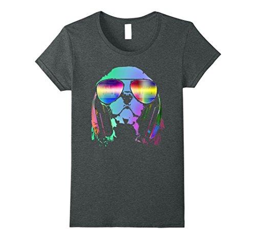 Womens Electro Music DJ Cavalier King Charles Spaniel T-shirt Medium Dark Heather