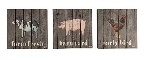 Boston Warehouse Canvas Wall Art, Farm Animals, 12