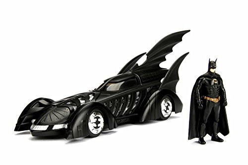 Model Bat Black (1995 Batmobile Batman Forever, Black - Jada 98036 - 1/24 Scale Diecast Model Toy Car)