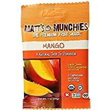 Matt's Munchies The Premium Fruit Snack Mango Gluten Free 1 Oz. Pk Of 6.