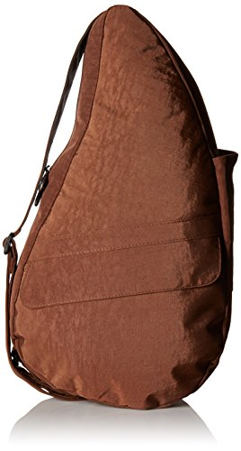 AmeriBag Classic Distressed Nylon Healthy Back Bag tote Medium,Brown,one size