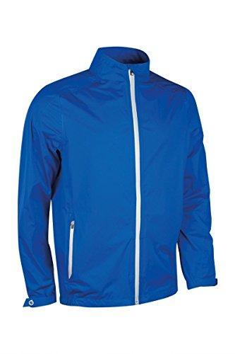 Sunderland Mens Whisperdry Lightweight Waterproof Golf Jacket-Electric Blue/Silver-X-Large
