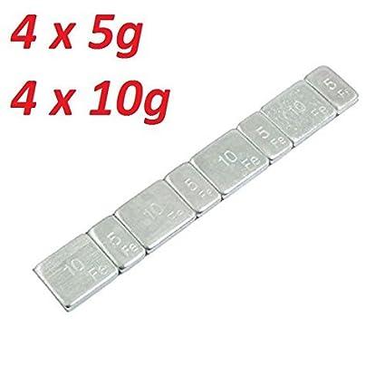 Universal plomo peso klebeg ewicht - Contrapesas 5 G + 10 g Llantas auto-adhesivos