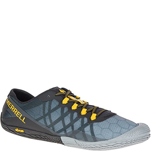 Merrell Men's Vapor Glove 3 Trail Runner, Dark Grey, 8 M US