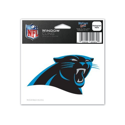 Carolina Panthers NFL 3x3 Static Window Cling Decal