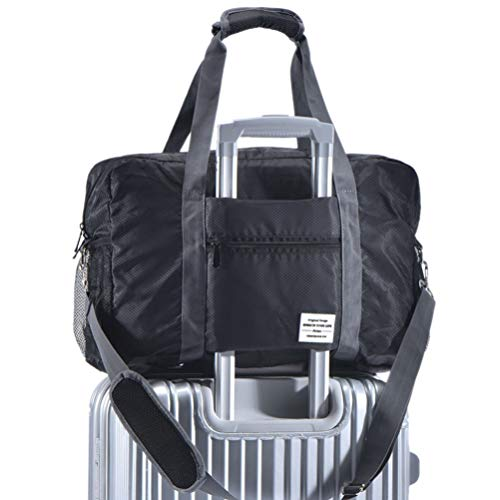 - Arxus Travel Lightweight Waterproof Foldable Storage Carry Luggage Duffle Tote Bag (Black)