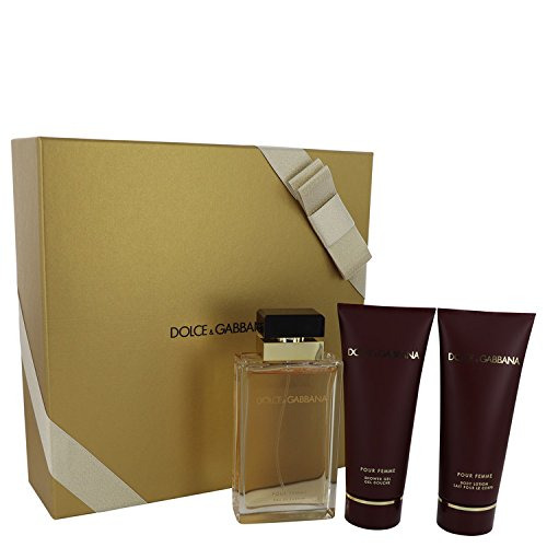 Dőlce & Gabbanā Gift Set - 3.4 oz Eau De Parfum Spray + 3.4 oz Shower Gel + 3.4 oz Body Lotion