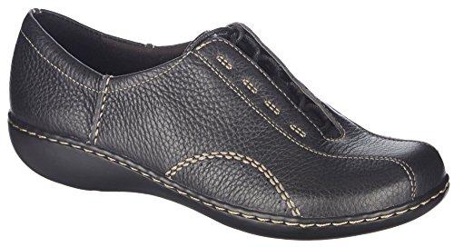 Clarks Ashland Fig Womens Size 8 Black Leather Loafers Shoes UK 5.5 EU 39