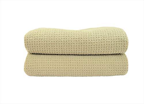 (Fina Ultra Absorbent Microfiber Waffle Bath towel SET - 2 of Extra Large Bath Towel SET in Sage color ( 29