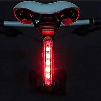 Glumes Front//Rear Bike Light|Ultra Bright Powerful Safety Taillight|High Intensity Rear LED Accessories|7 Light Mode Options|9 LED|Waterproof|for all Bikes//Helmets Red