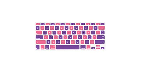 Amazon.com: eDealMax La piel del teclado Film Protector púrpura rosa Para Apple MacBook Air 13,3: Electronics