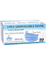 3PLY DISPOSABLE FACE MASK *MADE IN CANADA* (50PCS)