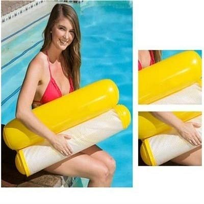 Pool Floats - New Inflatable Pool Float Bed 120cm70cm Water Inflatable Lounge Chair Float Swimming Float Hammock Lounge Bed for Swimming (Yellow) ()