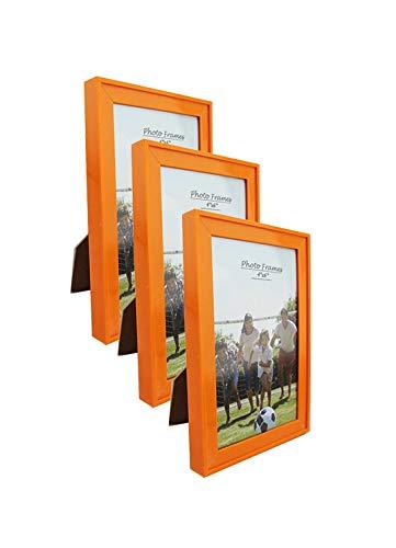 PP Modern Collection Photo Frame Orange Plastic (4