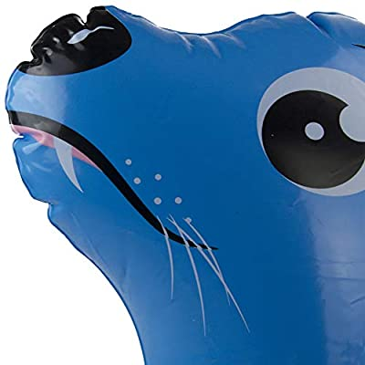 Inflatable Blue and Yellow Sea Lion Children's Swimming Pool Split Ring Inner Tube, 22-Inch: Toys & Games