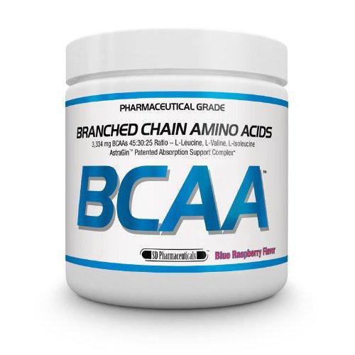 Produits pharmaceutiques SD ramifiée chaîne acides aminés BCAA supplément, Framboise bleue, 6 onces