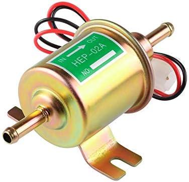 カーアクセサリー 自動車 改造 アクセサリー Hep-02A 電子オイルポンプ 電子 燃料ポンプ 12V 24V 電子ディーゼルポンプ WZZJP (Color : ゴールド, Size : 24V)