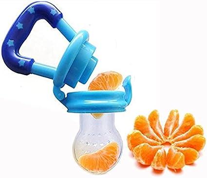 WENTS 4 Tettarelle Ciuccio Frutta /& Verdure da Mordere per Neonati e Bambini Anello da Dentizione Succhietto senza BPA Silicone Ciuccio per Alimenti