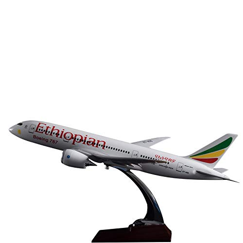 - Marrsto 43Cm Resin B787 Ethiopian Airplane Model Aviation Aircraft Model Boeing 787 Ethiopia Aviation Plane Model Collection Gift Toy