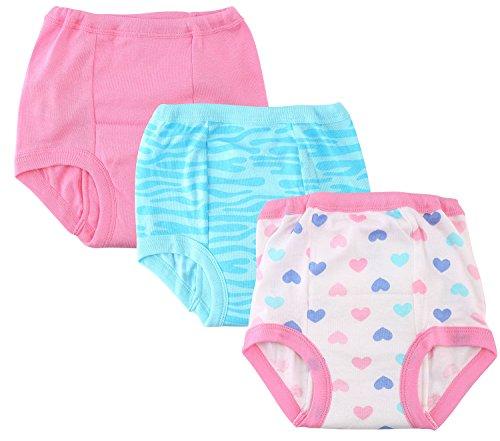 Gerber Little Girls' 3-Pack Training Pant - Hearts (2T)